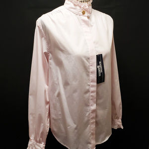 NWT Hastings & Smith Pink Ruffle Long Sleeve Top